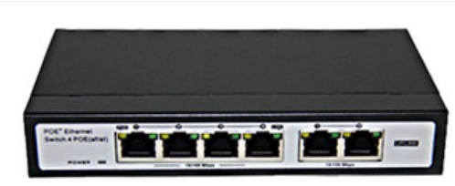 FS-S1004EP-2E, PoE switch 6x 10/100, 4x 802.3af / at PoE